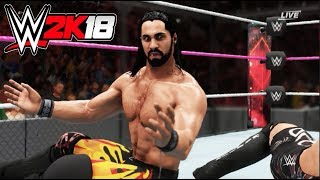 WWE-2K18-Seth Rollins vs Rob Van Dam- Hell In A Cell Match--WWE-2K18- Gameplay