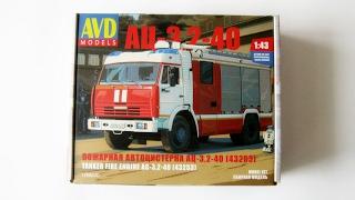 Набір - Автоцистерна КАМАЗ АЦ-3,2-40 (AVD Models)
