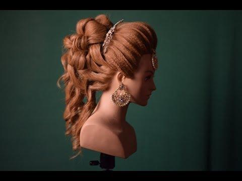 indo western wedding bridal hairstyle (my free seminar on 26th november 2017) magic techniques