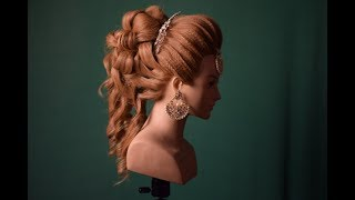 indo western wedding bridal hairstyle / party hairstyle  (magic techniques by chandra prakash patel)