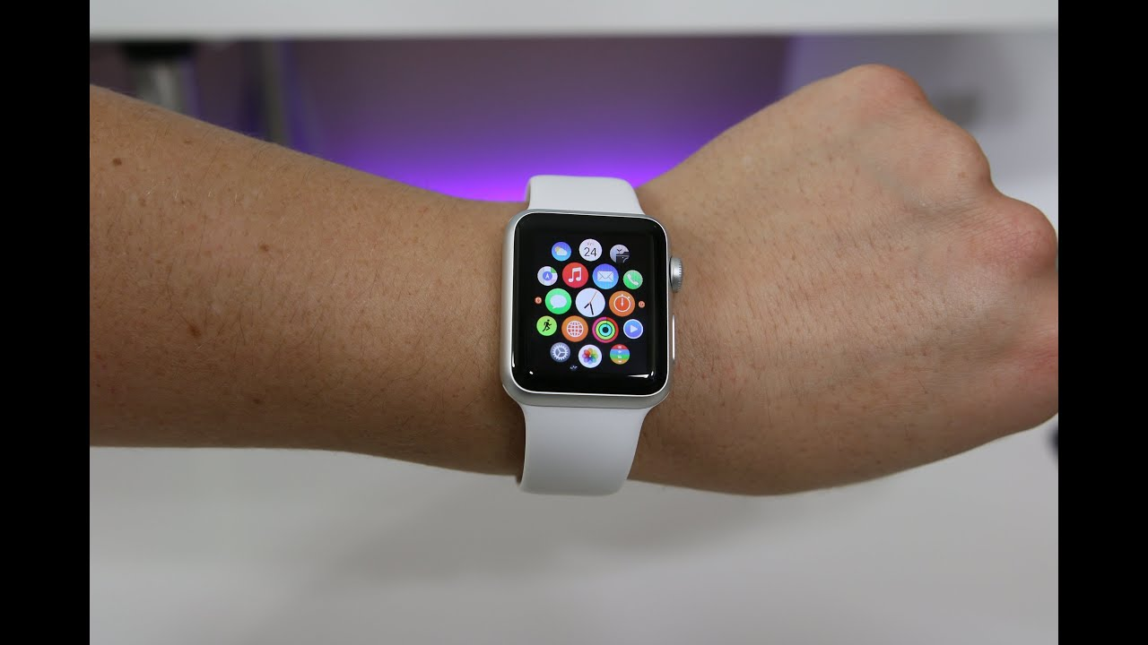 Apple Watch Sport Unboxing White 38mm Aluminum Youtube