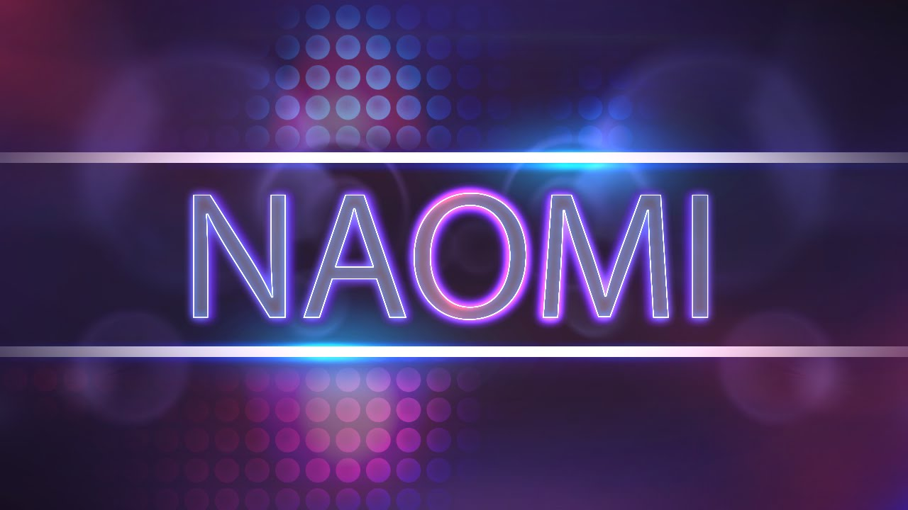 3d Name Wallpaper V Naomi Custom Entrance Video Titantron Youtube