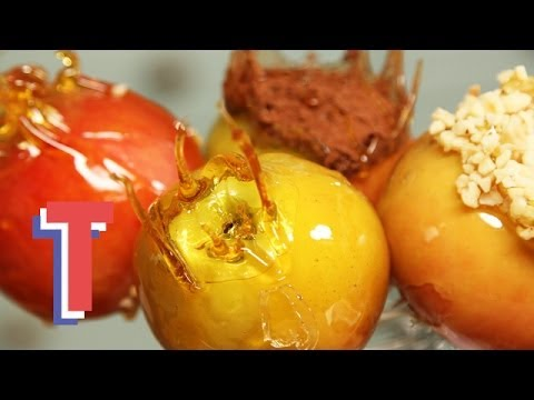 how to make toffee apples youtube