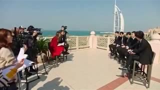 EXO POWER @ Dubai Fountain Show Burjakhalif they boys deserve this 💪 ❤ 💪
