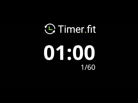 1 Minute Interval Timer with 5 Seconds Rest