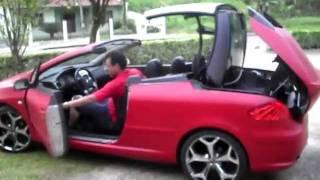 Capota Peugeot 307 cc 2007 vermelho fosco(Envelopamento em vermelho fosco - adesivo automotivo., 2011-12-23T13:09:06.000Z)