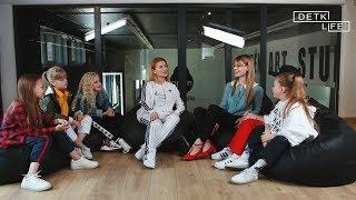 DETKI LIFE : Ольга Фреймут в Open Art Studio , подготовка к клипу с OPEN KIDS