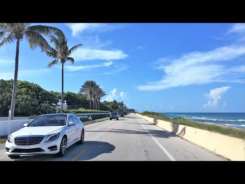 Beach Town Driving - Rich & Famous - Palm Beach Florida USA