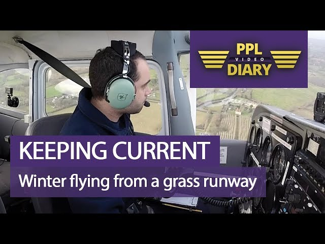 Keeping current | Winter flying from a grass runway (Full ATC)