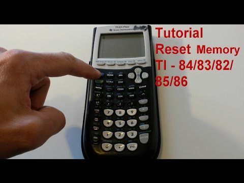 Ti 84 83 82 85 86 Taschenrechner Speicher Zurucksetzen How To Reset Ram Memory Calculator Youtube