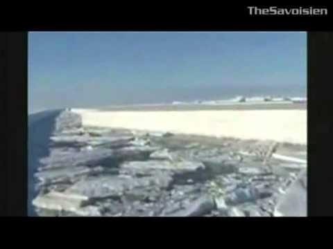 Decoupage de la glace aux lasers en Antarctique???
