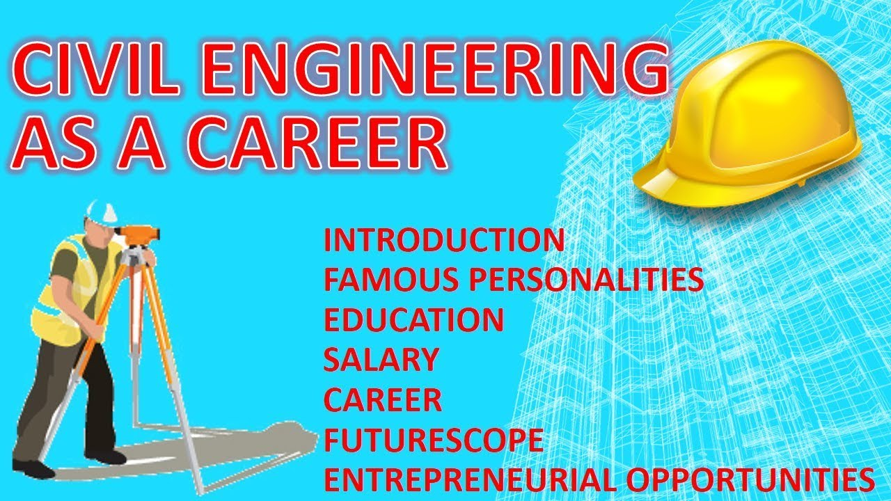Civil Engineering As A Career How To Become A Civil Engineer Youtube