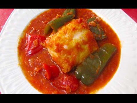 Bacalao con tomate y pimientos delicioso youtube - Bacalao fresco con tomate ...