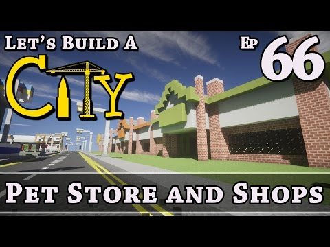 How To Build A City :: Minecraft :: Pet Store And Shops :: E66 :: Z One N Only