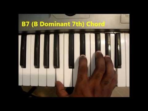 How To Play B7 Chord B Dominant Seventh B 7th On Piano Keyboard