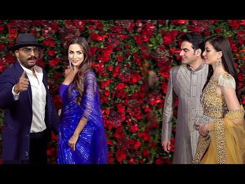 Arbaaz Khan, Malaika Arora, Arjun Kapoor Arrives At Ranveer Deepika's Wedding Reception