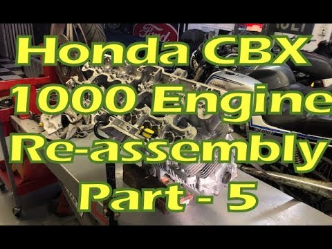 How to Rebuild a Honda CBX 1000 Engine - Part 18 - Re-assembly - Part 5 - Cylinders, Pistons, & Head