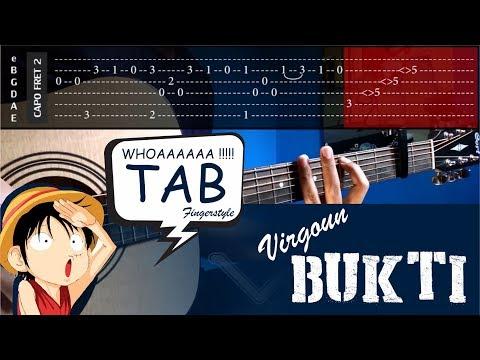 Virgoun - Bukti - Cover (Fingerstyle Cover) + TABS Tutorial (Tab Untuk Belajar) by vvxo