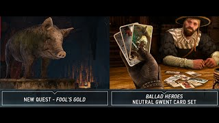 Witcher 3: DLC Week 4 New Neutral Gwent Card Art, Fools Gold Quest