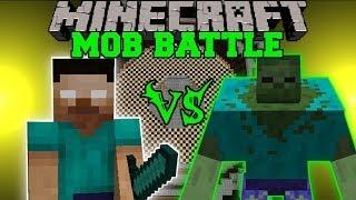 herobrine-vs-mutant-zombie-minecraft-mob-battles-polkz-and-mutant-creatures-mod-battle