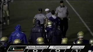 Colonials Football vs Concord 10/19/12