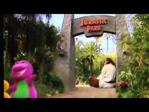 barney in jurassic park youtube. Black Bedroom Furniture Sets. Home Design Ideas