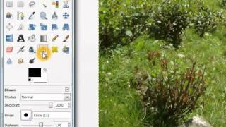 Gimp: Klonen, Retuschieren bzw. Objekte wegzaubern (Sachen entfernen)