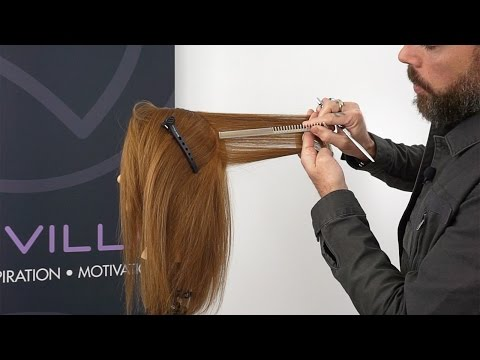 Creating consistent weight balance while layering hair