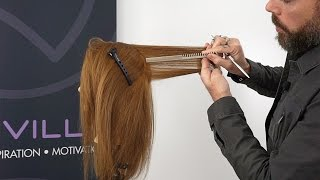Creating consistent weight balance while layering hair
