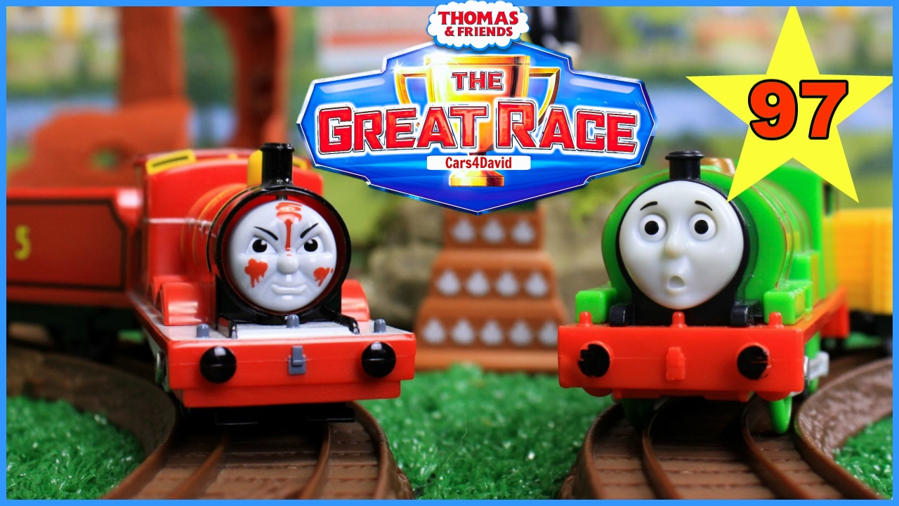 THOMAS AND FRIENDS THE GREAT RACE #97 TRACKMASTER THOMAS ...