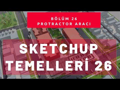 Sketchup Protractor Aracı 26