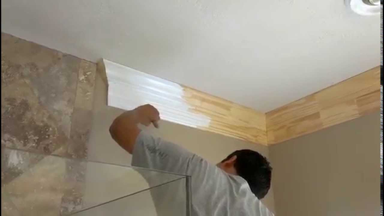 Hardwood Crown Molding Installation & Painting Houston