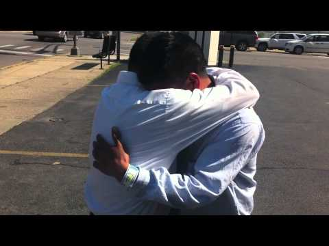 Immigrant Father Reunited with Children before Father's Day