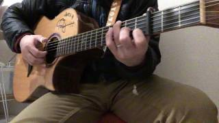 ソロギターのしらべの「風のとおり道」の弾き方解説です。 タブ譜と模範...
