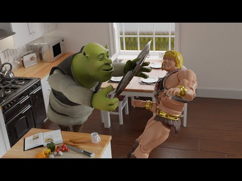 A Bad Idea With Shrek And He-Man [MMD]