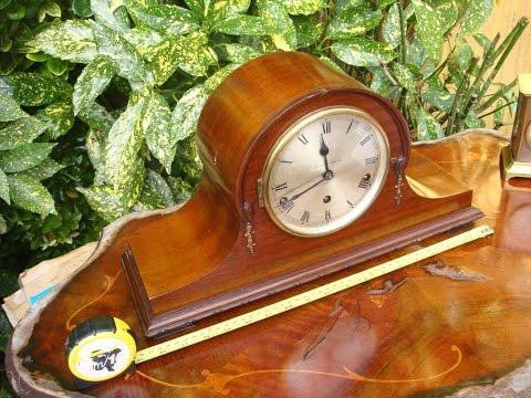 Antique Vintage  Old Napoleon Mantel  /  Mantle  Clock key & Pendulum See Video