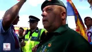 Police ban our National flag from the 134th Durham miners Gala?