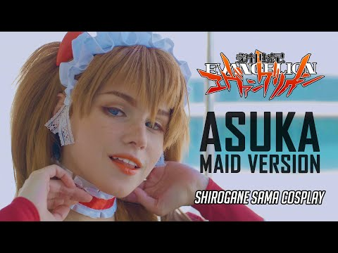 🔥 ASUKA MAID VERSION [EVANGELION] - SHIROGANE SAMA 🔥 | Cinematic Cosplay