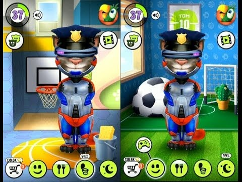 My talking tom police gameplay trailer hd youtube - My talking tom pictures ...