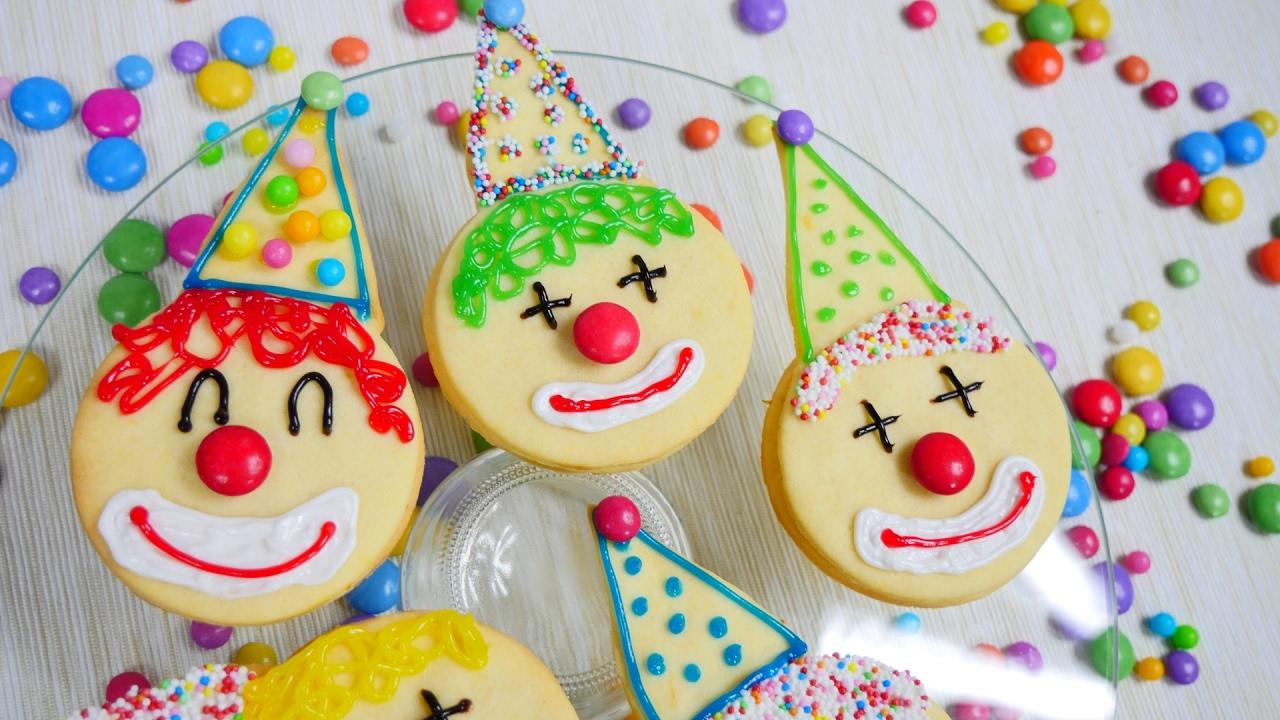 Clown Sandwich Kekse Zu Fasching Karneval Lemon Curd Sandwich