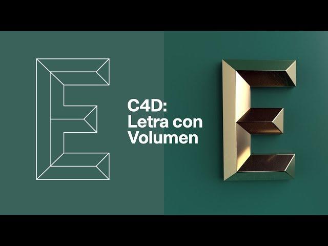 Cinema 4D: Letra con Volumen