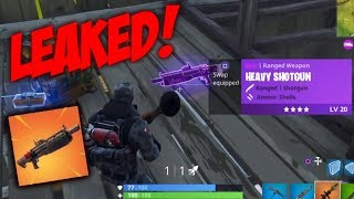 NEW HEAVY SHOTGUN LEAKED GAMEPLAY!! - Fortnite Battle Royale
