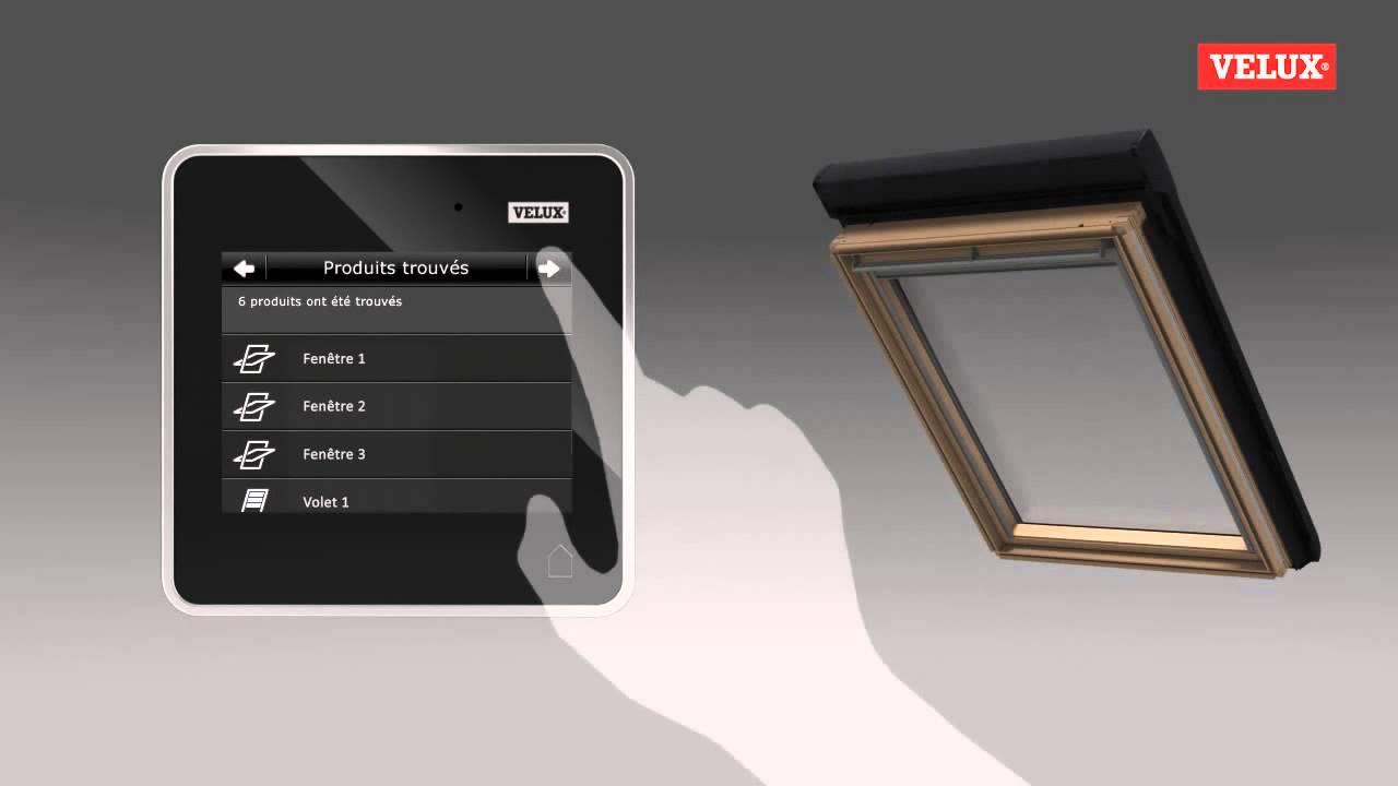 fonctionnement commande tactile klr 200 velux youtube. Black Bedroom Furniture Sets. Home Design Ideas