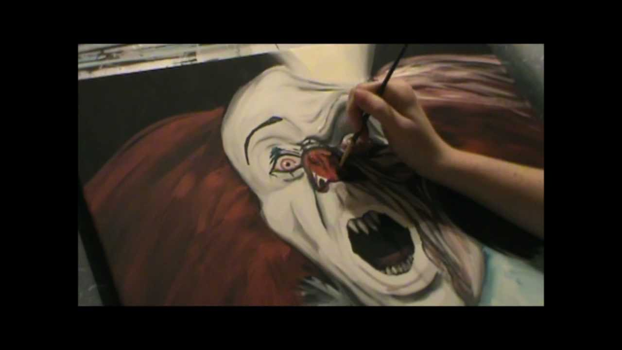 Stephen Kings IT Pennywise Speed Painting YouTube - It painting