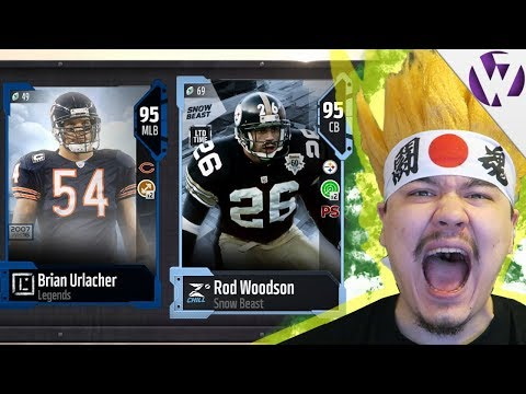 LIMITED EDITION ROD WOODSON! BRIAN URLACHER & HAROLD CARMICHAEL - Madden 18 Legend Pack Opening