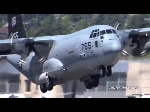 KC 130J Marine Super Hercules Is One Tough Looking Plane Departing KBFI Boeing Field