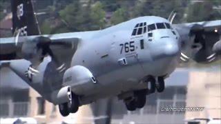 KC 130J Marine Super Hercules Is One Tough Looking Plane Departing KBFI Boeing Field