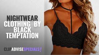 Top 10 Black Temptation Nightwear Clothing [2018]: LHWY Women Lace Sexy Lingerie Nightwear