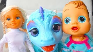 Куклы и пупсики отправляются на поиски  новой игрушки Динозаврика. Игрушкин ТВ детский канал