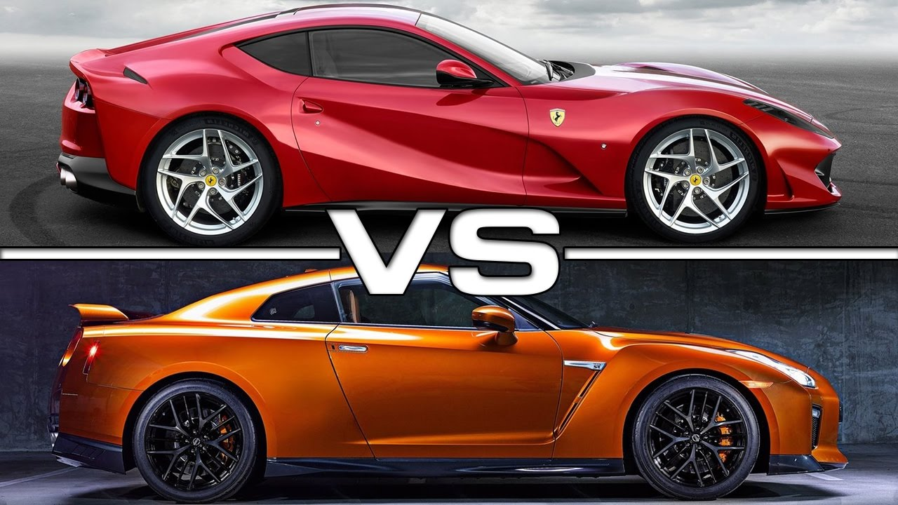 2018 Ferrari 812 Superfast Vs 2017 Nissan GT-R